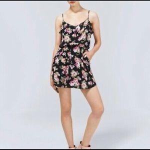 ARITZIA TALULA Ulla Black Floral Mini Dress